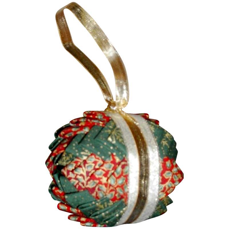 Boule de no l en patchwork id es et conseils boules de no l - Fabrication de boule de noel en papier ...