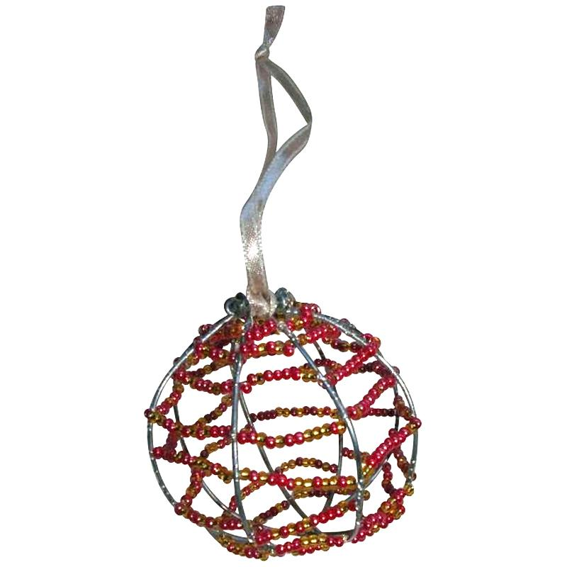 Boule de no l en perles de rocailles id es et conseils - Fabrication de boule de noel ...