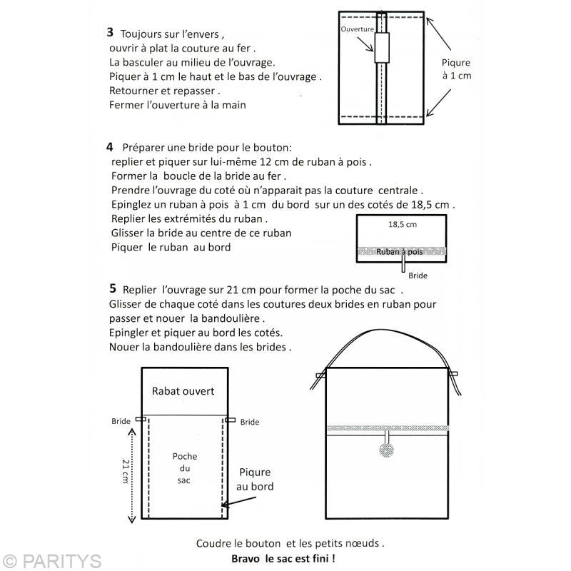 Fabriquer un sac bandouli re id es conseils et tuto couture - Tuto sac bandouliere avec rabat ...