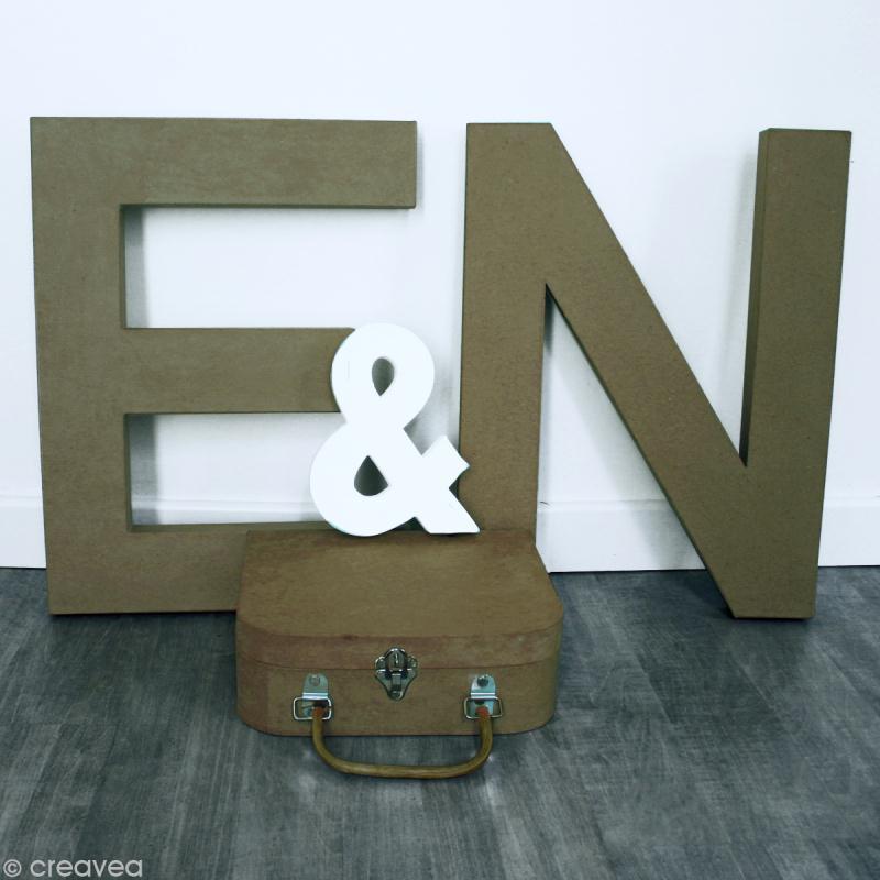 Faire une urne de mariage soi m me id es et conseils d copatch artepatch - Lettre en carton geante ...