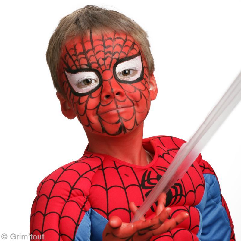 Maquillage spiderman sur visage d 39 enfant id es et conseils maquillage - Maquillage toile d araignee visage ...