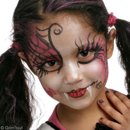 maquillage halloween draculaura de monster high id es. Black Bedroom Furniture Sets. Home Design Ideas