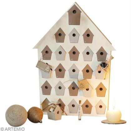 calendrier de l 39 avent facile le nichoir en or et argent. Black Bedroom Furniture Sets. Home Design Ideas
