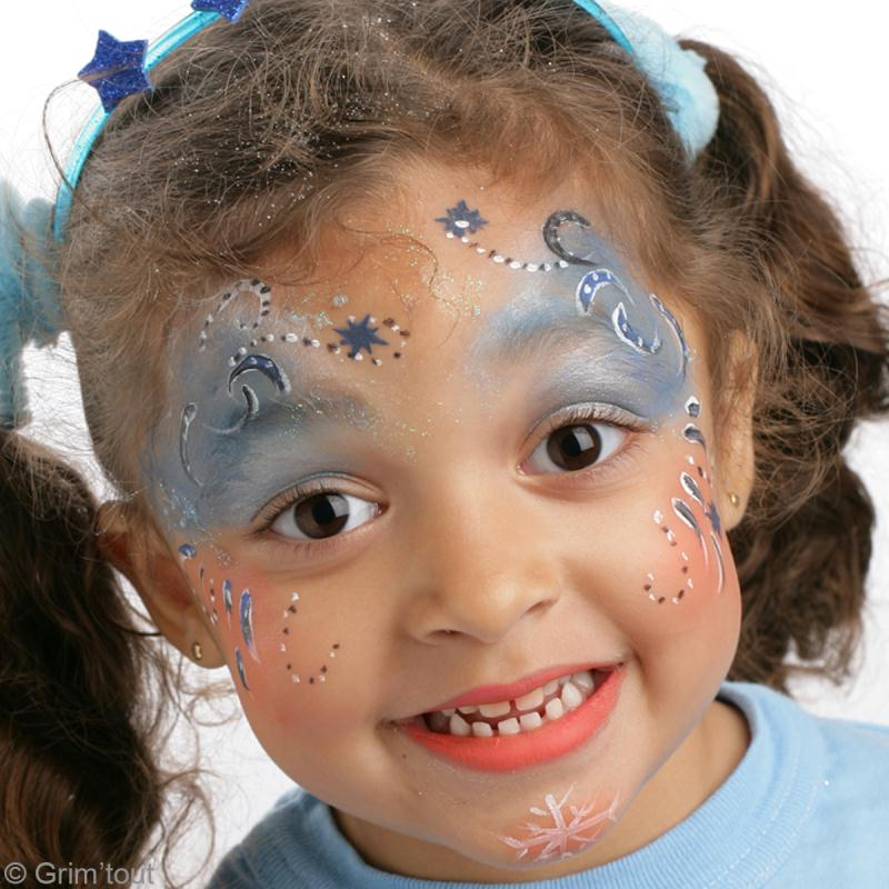 Maquillage enfant princesse d 39 hiver id es et conseils maquillage - Maquillage princesse facile ...