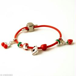 1. Bracelet en silicone Fruits rouges