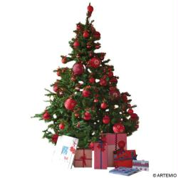 4. Sapin traditionnel en rouge et vert