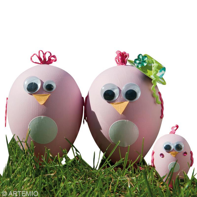 Décoration oeuf de Pâques Poule rose - Idées et conseils Pâques