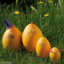 2. Décorer oeufs de Pâques Famille Orange