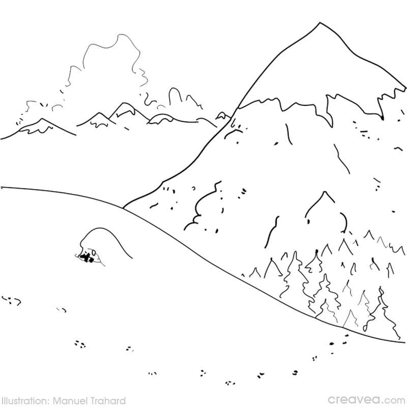 Dessin De Montagne Facile Jura Carnes