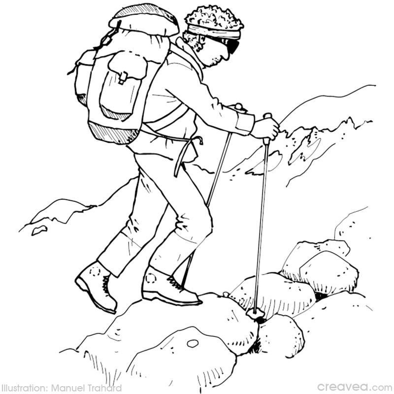 Coloriage vacances à la montagne - Idées conseils et tuto Coloriage