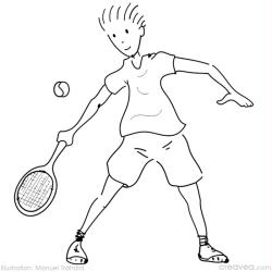 10. Coloriage en ligne jeux olympiques tennis
