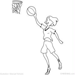 11. Coloriage gratuit jeux olympiques basketball