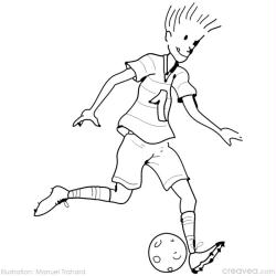 12. Coloriage  imprimer jeux olympiques: football