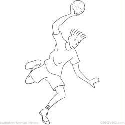 13. Coloriage en ligne jeux olympiques: handball
