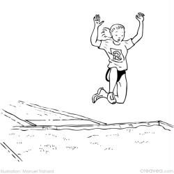 1. Coloriage en ligne jeux olympiques: saut en longueur