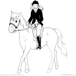 8. Coloriage gratuit jeux olympiques: equitation
