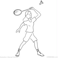9. Coloriage  imprimer jeux olympiques: badminton