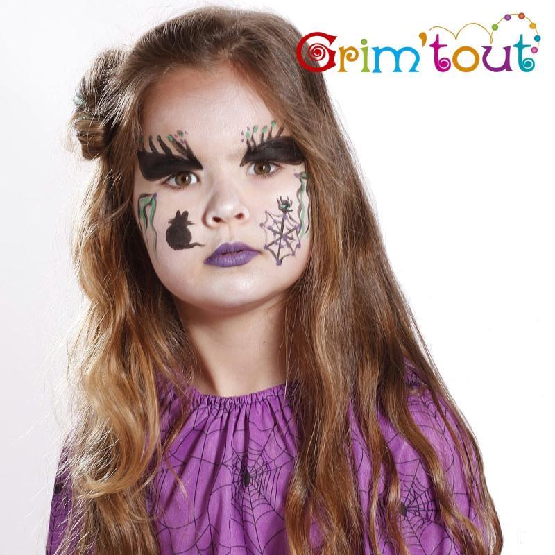 Maquillage de sorci re pour halloween id es et conseils maquillage - Maquillage araignee visage ...