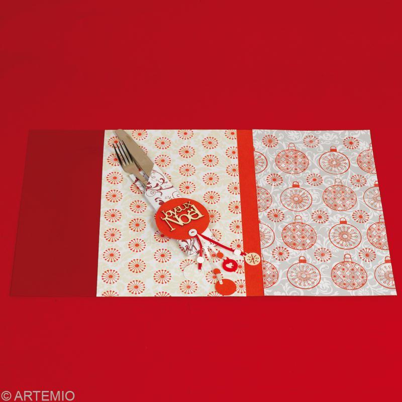 Fabriquer une d coration de table no l 2013 th me origami for Set de table noel