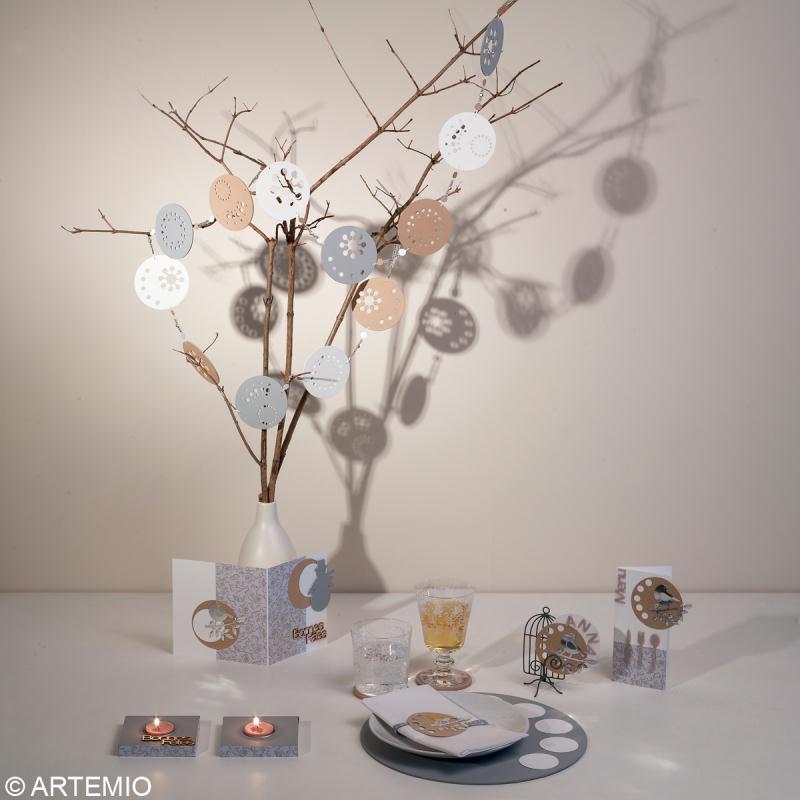 d co de table de no l tendance zen 2013 id es et. Black Bedroom Furniture Sets. Home Design Ideas