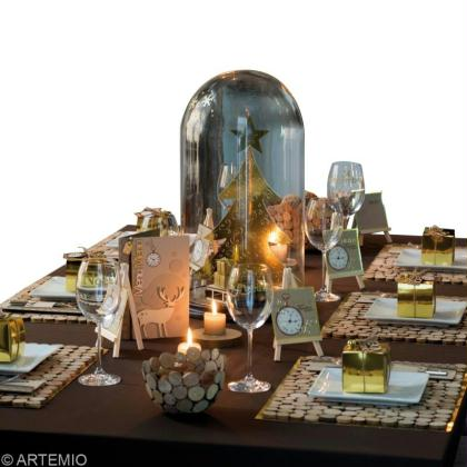 decoration-table-noel-or-argent
