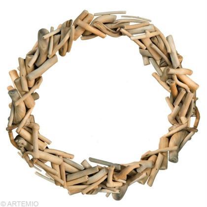 Fabriquer une couronne de no l en bois flott id es et for Fabriquer photophore bois flotte