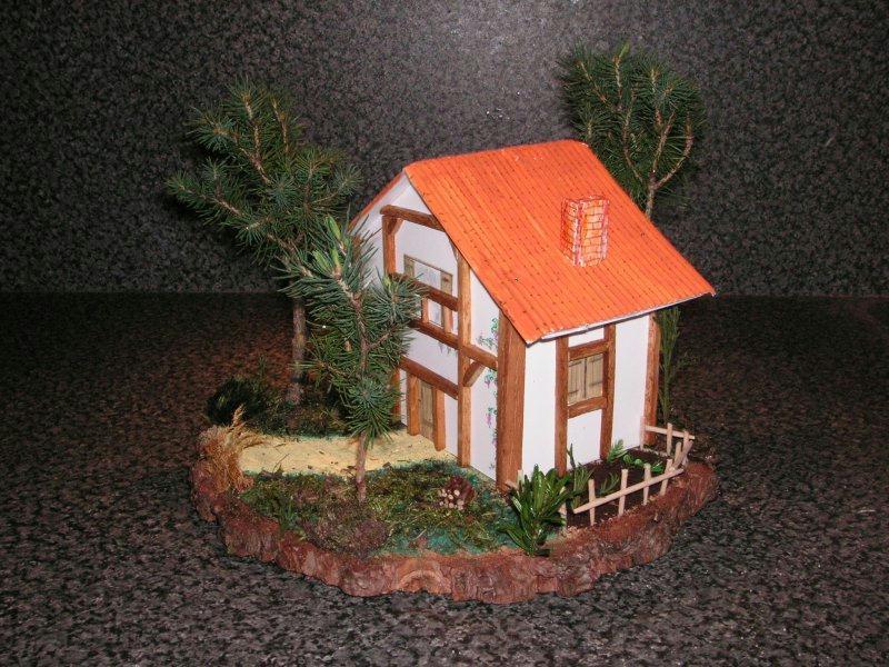 Maison landaise cr ations maquettes et miniatures de for Decoration maison landaise