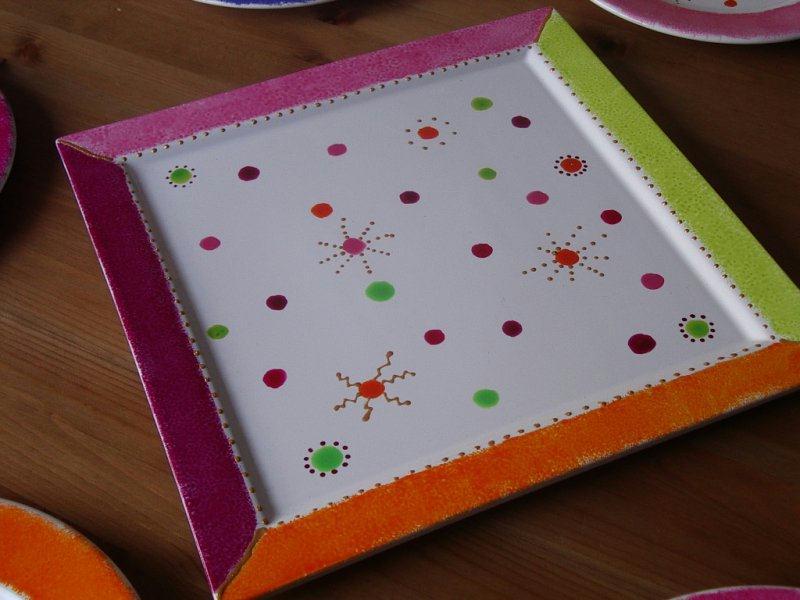 Vaisselle cr ations peinture sur porcelaine et verre de suzie n 1156 vue 4 - Peinture pour vaisselle ...