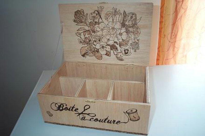 Boite Couture Cr Ations Pyrogravure De Nounours07400 N