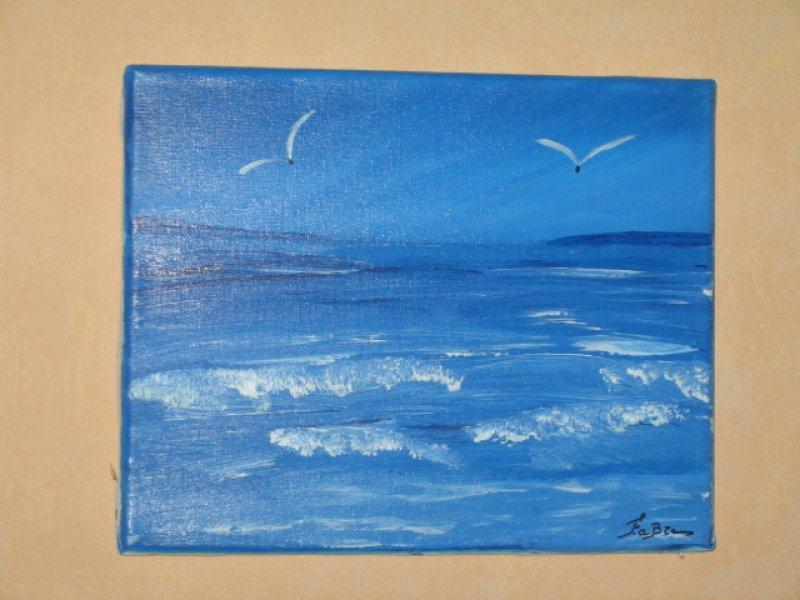 pin tableau peinture mer - photo #30