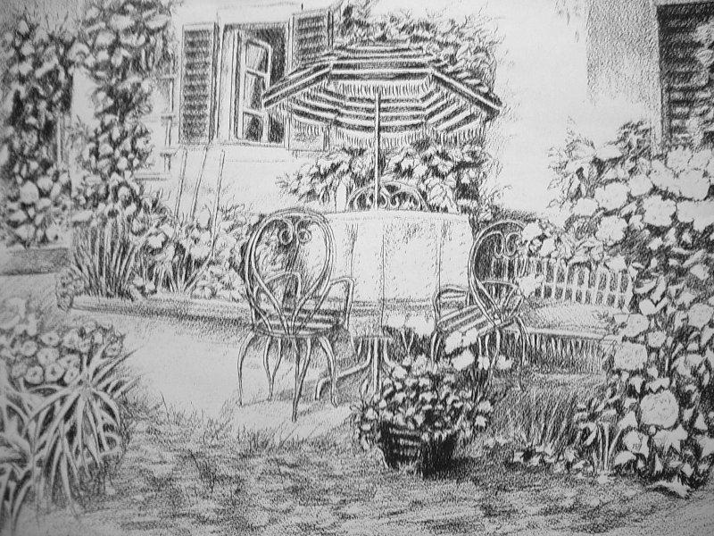 Jardin cr ations beaux arts dessin de mlkjmlk n 19861 for Jardin japonais dessin