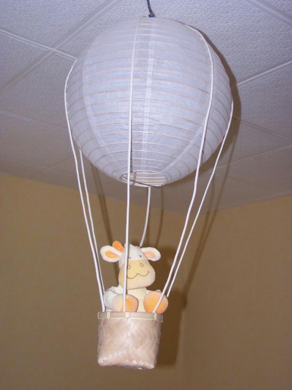 Abat jour montgolfi re cr ations chambre d 39 enfant de sophieyan n 21953 vue 8702 fois Abat jour chambre enfant