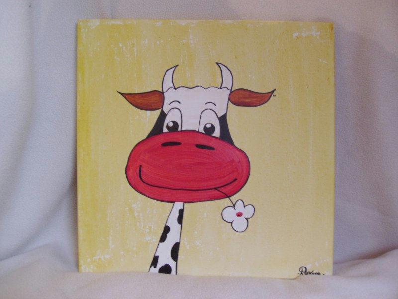 Tableau pour b b vache souriante cr ations chambre d for Tableau pour chambre bebe