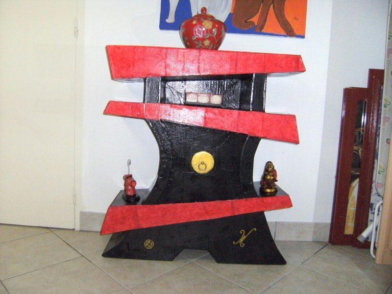 Meuble chinois en carton cr ations meuble en carton de for Meuble chinois belgique
