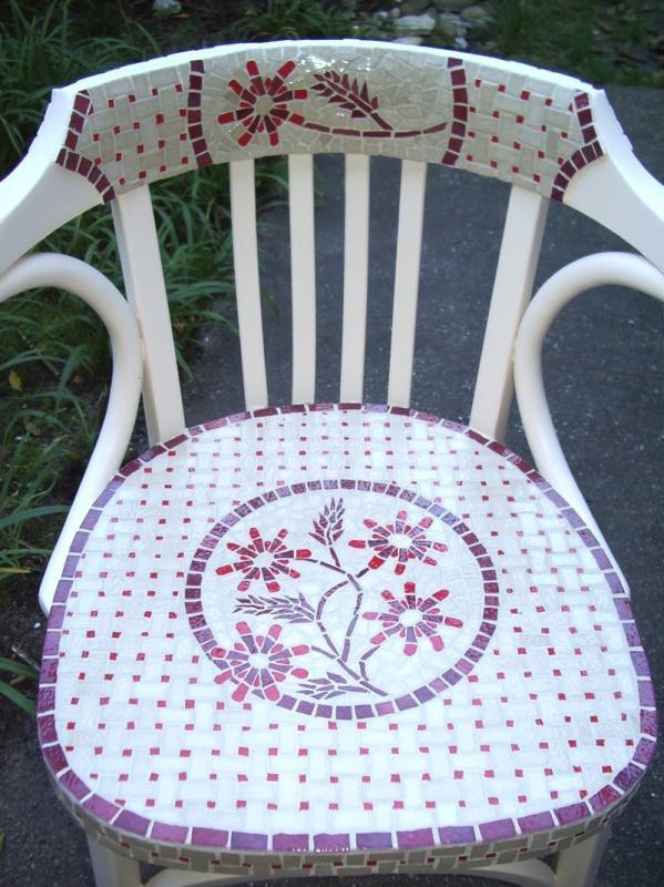 fauteuil relook cr ations mosa que de pyromosaic n 23104 vue 4774 fois. Black Bedroom Furniture Sets. Home Design Ideas