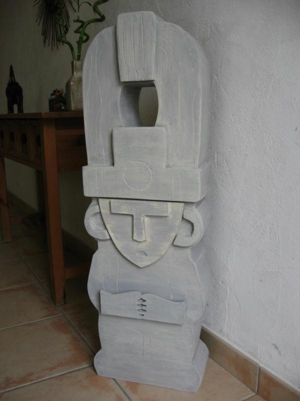 Sulpture incas en carton finition pierre cr ations for Finition meuble en carton