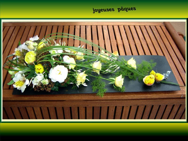 joyeuses p ques cr ations art floral de anniegau35 n 25828 vue 5444 fois. Black Bedroom Furniture Sets. Home Design Ideas
