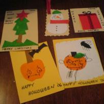 Holloween and christmas card