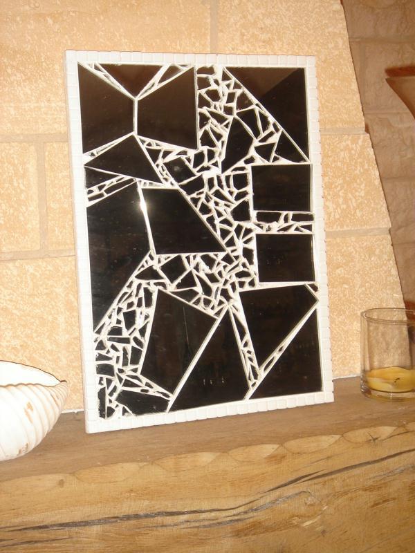 Miroir bris cr ations mosa que de fab4556 n 26565 vue for Mosaique miroir