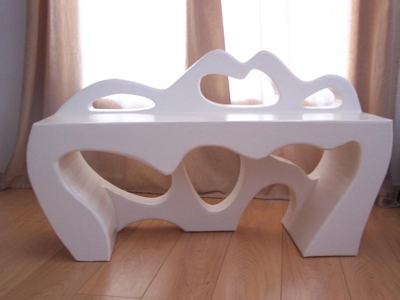 banc blanc blanc banc cr ations meuble en carton de cartonnable n 26745 vue 5229 fois. Black Bedroom Furniture Sets. Home Design Ideas