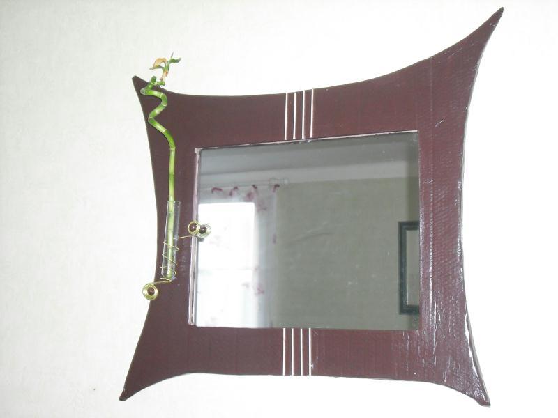Miroir bambou cr ations meuble en carton de asa29 n for Miroir bambou