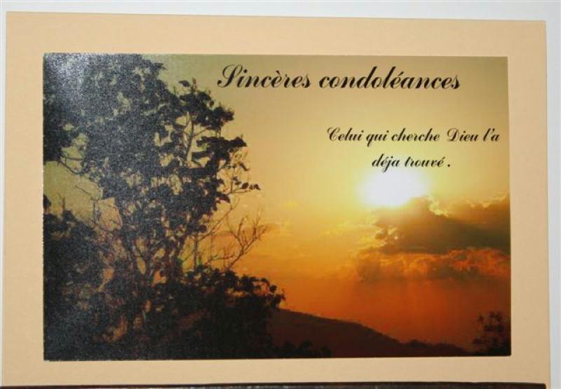 Exemple De Lettre De Condoleances En Retard | Covering Letter Example