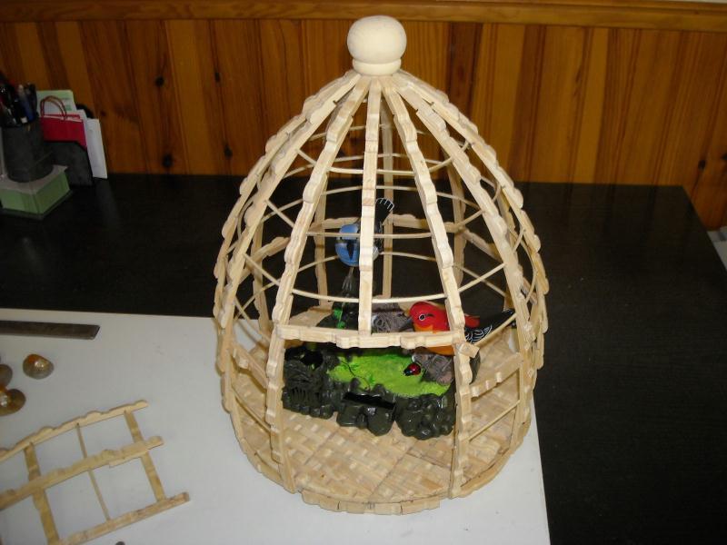 la cage aux oiseaux cr ations cr ation en pinces linge. Black Bedroom Furniture Sets. Home Design Ideas