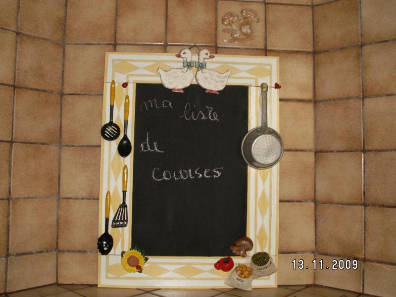 memo pour cuisine cr ations peinture multi supports de pilou24 n 29739 vue 3515 fois. Black Bedroom Furniture Sets. Home Design Ideas