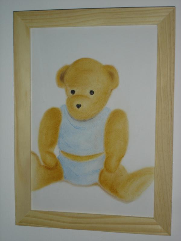 Dessin ours en peluche au pastel sec cr ations beaux arts dessin de nineloul n 30284 vue - Dessin au pastel sec ...