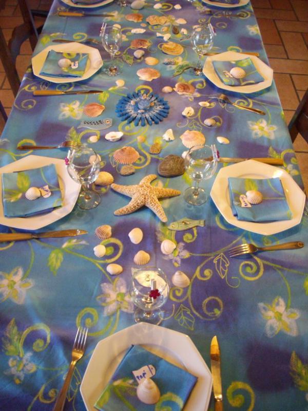 décoration de table thème mer #3