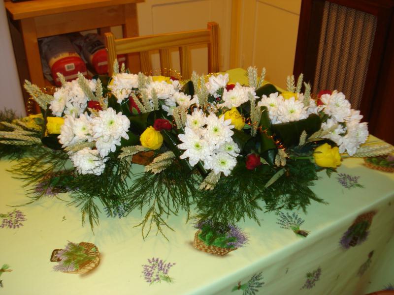 Composition florale pour l 39 anniversaire de papi 80 ans cr ations art floral de ninoute91 n - Composition florale anniversaire ...