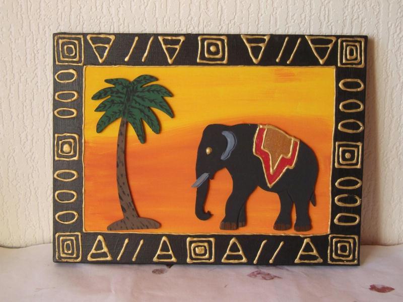 Tableau africain, motif mdf et peinture acrylique - Créations Home ...