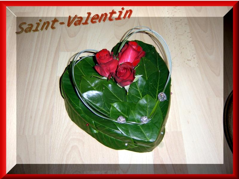 Composition florale coeur de saint valentin cr ations art floral de anniegau35 n 31574 vue for Comcomposition florale saint valentin