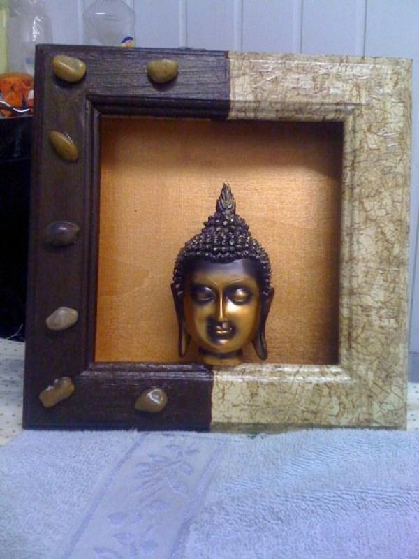bouddha relief petit tableau en 3d cr ations home d co. Black Bedroom Furniture Sets. Home Design Ideas